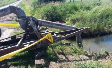 Colocación de bomba extractora de agua en circunvalación este y las vías férreas
