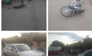 LABORDE: DOS ACCIDENTES DE TRANSITO