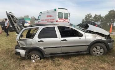 Tortugas: Vuelco en Autopista con heridos derivados al SAMCO de Armstrong
