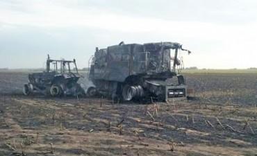 LOS SURGENTES: Un muerto y un herido grave tras quemarse un tractor y una cosechadora