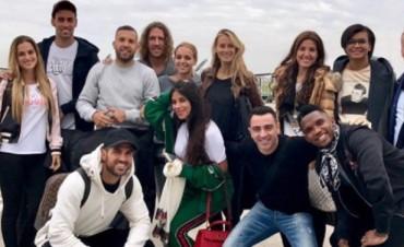 Llegaron a Rosario los amigos del Barcelona de Lionel Messi