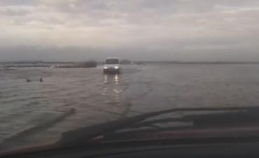 Ruta 12 nuevamente bajo agua.