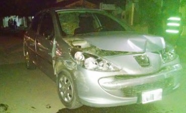 EXTRAÑO ACCIDENTE EN LABORDE: CHOCARON Y HUYERON