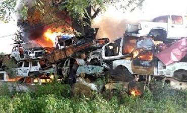 VILLA MARIA: Se quemaron mas de 20 vehículos en el depósito judicial