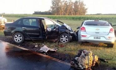 Choque múltiple en Ruta 8: un muerto y cinco heridos tras el impacto
