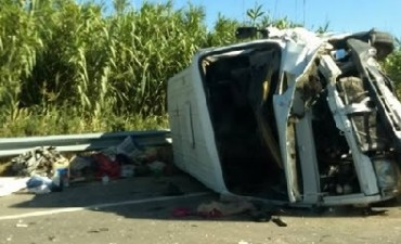 Una mujer murió tras un choque múltiple en ruta 158