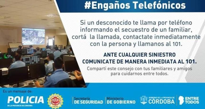 COMUNICADO DE LA POLICIA DE LA PROVINCIA DE CORDOBA