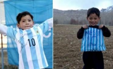 Messi le cumplió el sueño del niño afgano