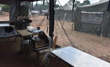 El Ejército Argentino armó campamento en Salta