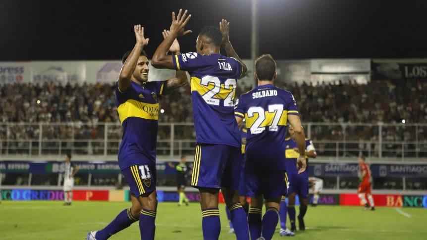 Boca goleó a Central Córdoba y sigue a tres puntos de River