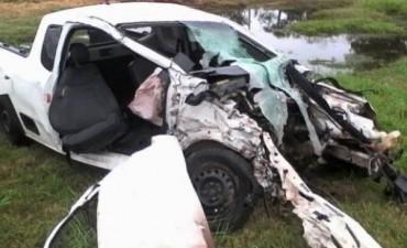 Murieron tres jóvenes en un violento choque cerca de Venado Tuerto