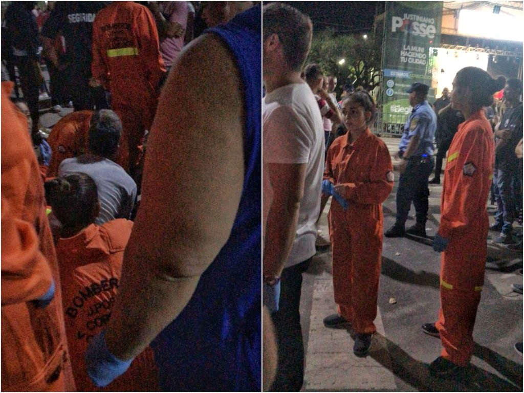 Carnaval J. Posse, cayó tribuna varios heridos
