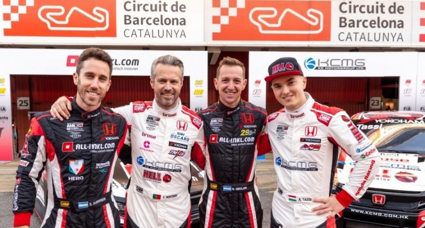 Nestor Bebu Girolami y Esteban Guerrieri juntos en el equipo Honda del WTCR en 2019