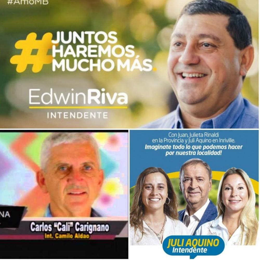 Riva y Carignano fueron reelectos y Aquino dio el batacazo en Inriville