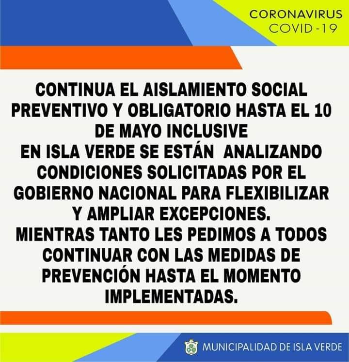 COMUNICADO MUNICIPAL RESPECTO AL AISLAMIENTO SOCIAL