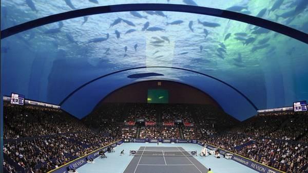 Tenis bajo el agua, el nuevo capricho de Dubai
