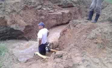 Localidades del sudeste cordobés sufren problemas de abastecimiento de agua potable por rotura de un caño maestro