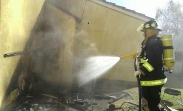 Incendio en una vivienda de Villa Argentina