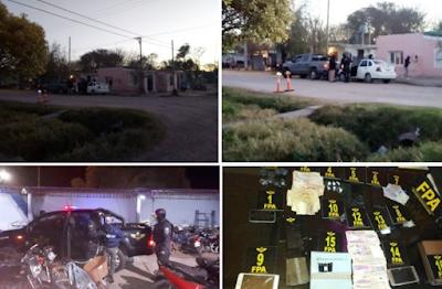 Cae banda narco con marihuana y cocaína en Marcos Juárez: Hay 8 detenidos
