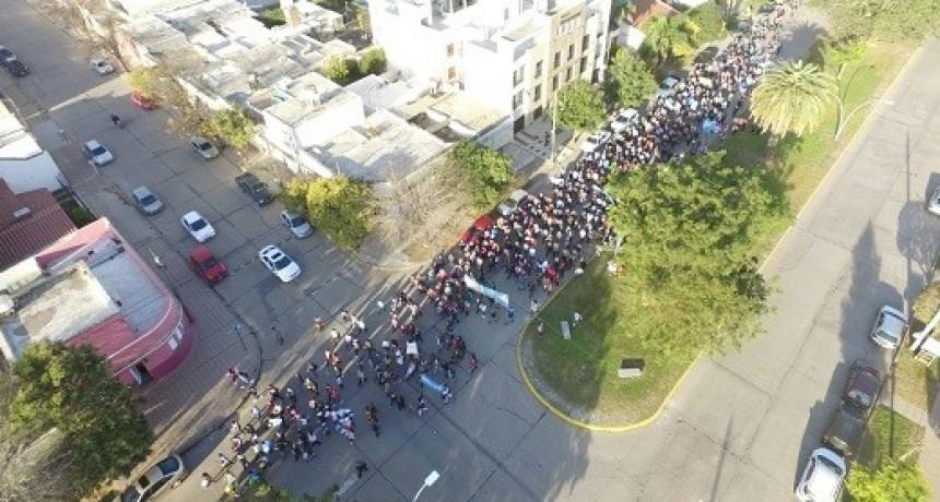 Junto a otras ciudades del país, marcharon en Villa María contra el aborto