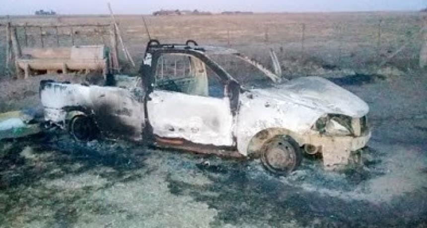 Se le incendió la camioneta y en la desesperación murió de un infarto