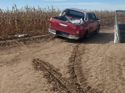 Alejandro Roca: Patrulla Rural encontró una camioneta con pedido de secuestro dentro de una estancia.