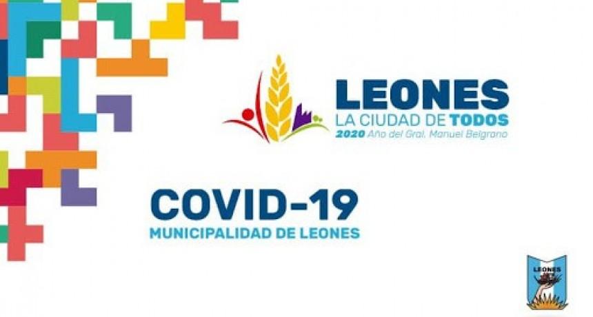 Municipalidad de Leones: Caso positivo de Covid-19