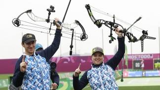 La dupla González-Nikolajuk conquistó la 25ta medalla de oro para la Argentina en arquería