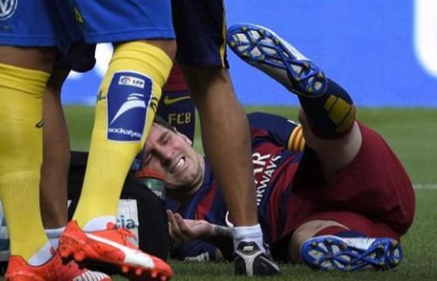 Messi sufrió una grave lesión: rotura de ligamento colateral