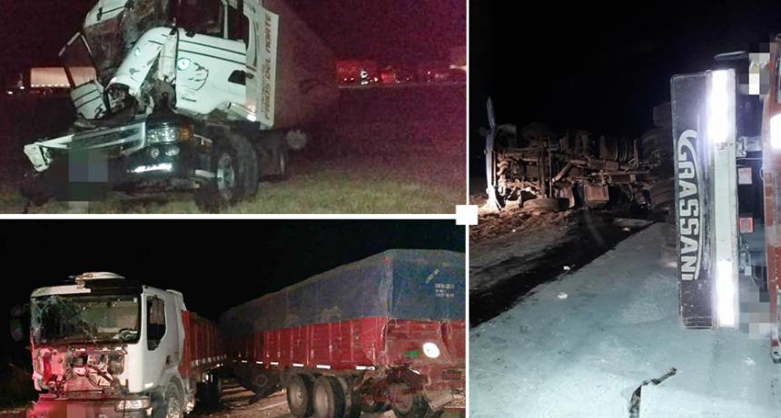 Leones: Cuádruple choque de camiones en la Autopista
