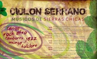"""El viernes continúa el """"Ciclón de músicos por las Sierras Chicas"""""""