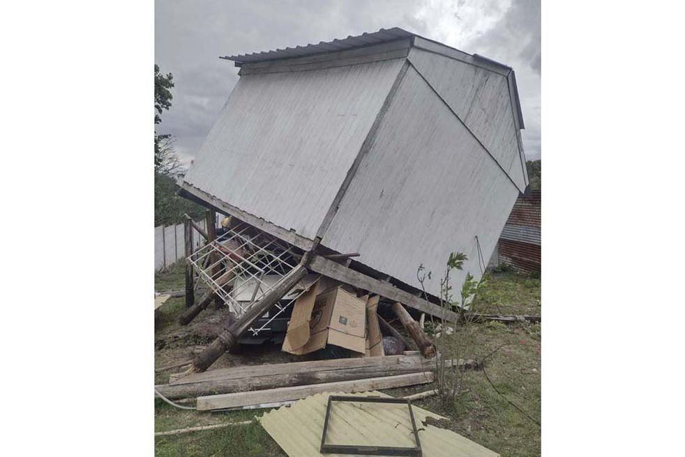 Córdoba: el temporal generó destrozos en la provincia.