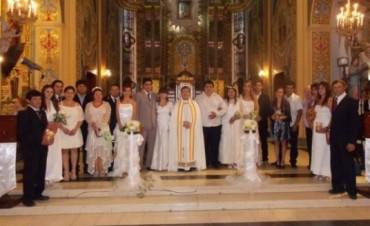Inédito casamiento comunitario en Sampacho