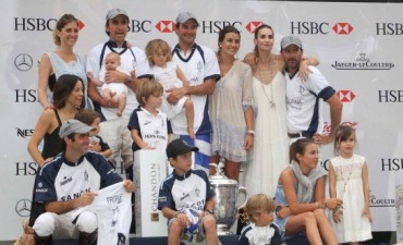 Celebridades en la final del Abierto de Polo de Palermo