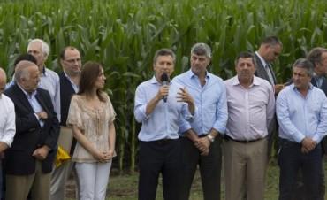 Macri anunció la quita total de retenciones a trigo, maíz, sorgo, girasol y carnes
