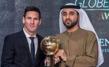 Messi recibió el premio Globe Soccer Awards en Dubái